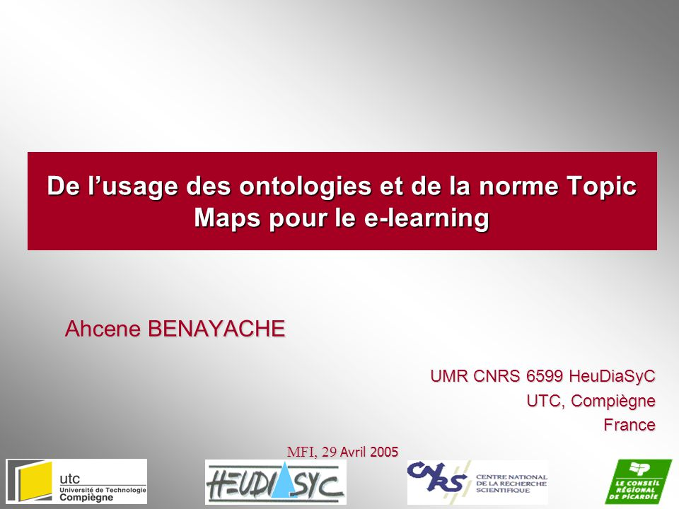 De l'usage des ontologies et de la norme Topic Maps pour le e-learning