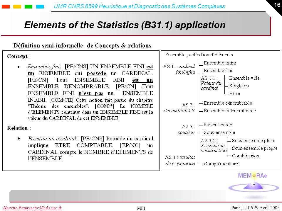 Elements of the Statistics (B31.1) application