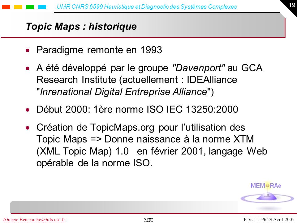 Topic Maps : historique