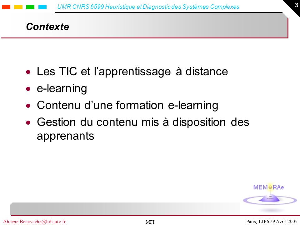Les TIC et l'apprentissage à distance e-learning