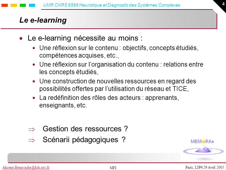 Le e-learning nécessite au moins :
