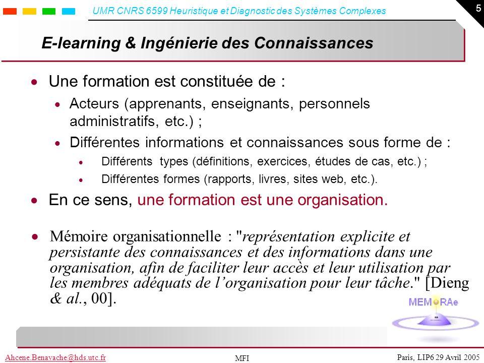 E-learning & Ingénierie des Connaissances