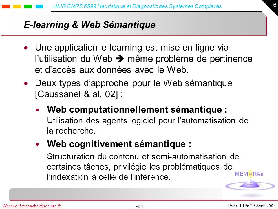 E-learning & Web Sémantique