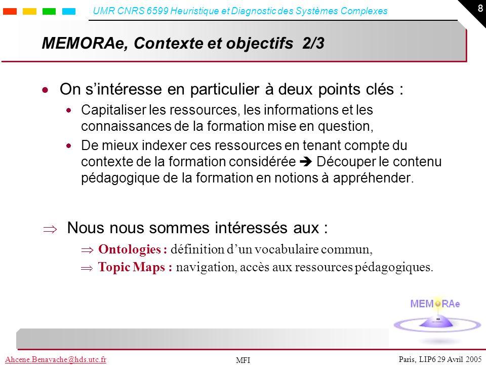 MEMORAe, Contexte et objectifs 2/3