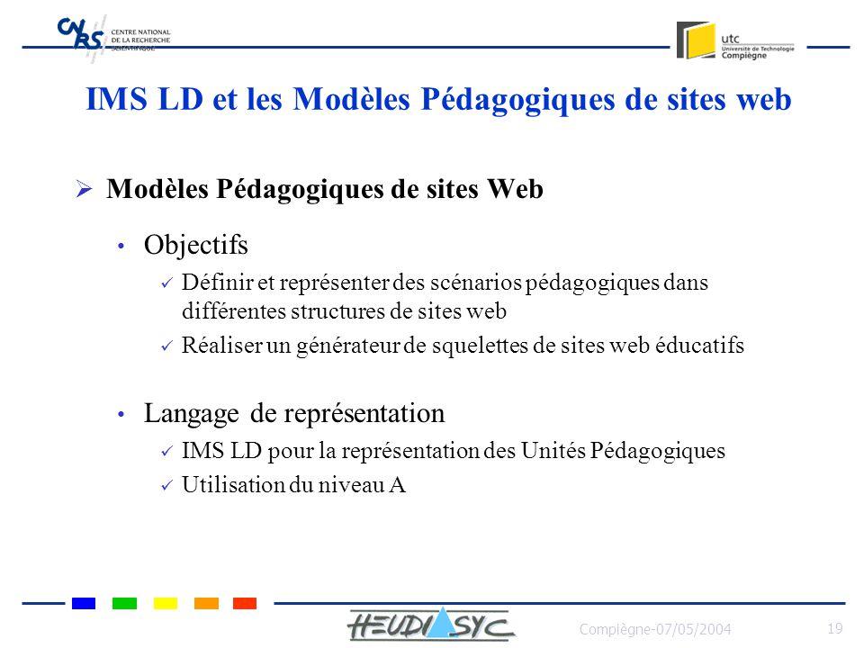 IMS LD et les Modèles Pédagogiques de sites web