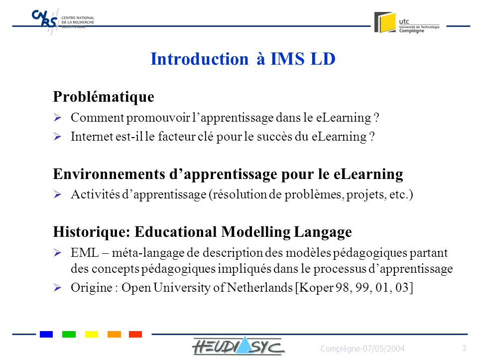 Introduction à IMS LD Problématique