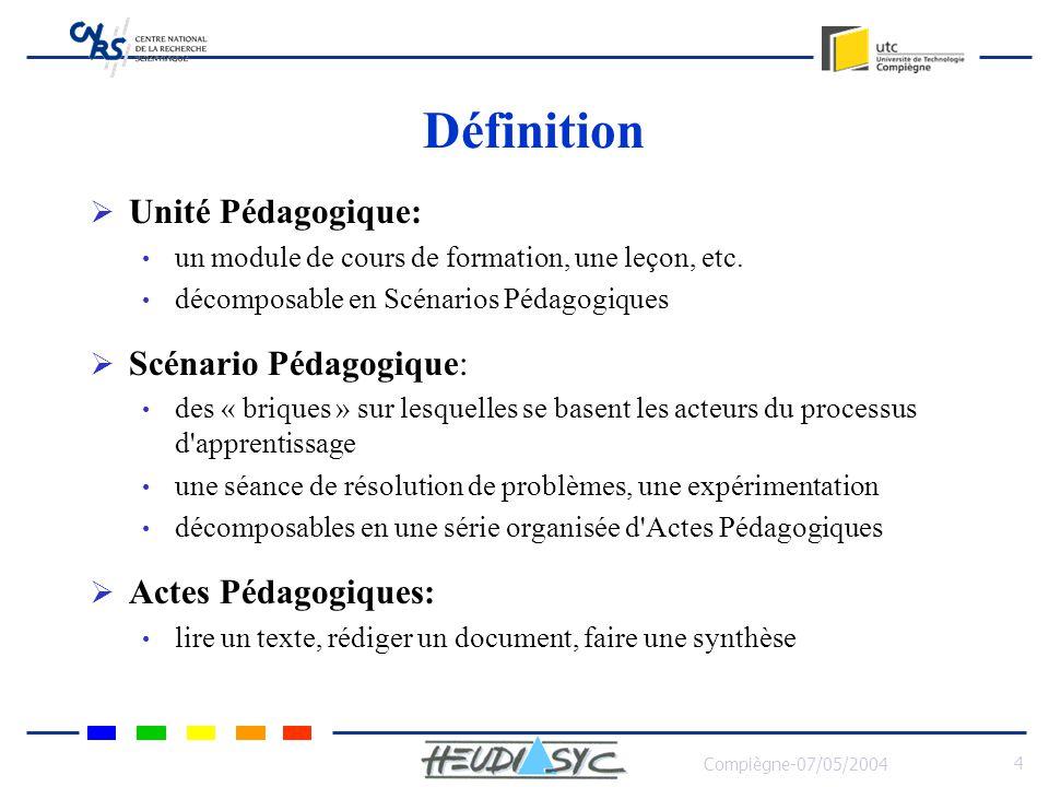 Définition Unité Pédagogique: Scénario Pédagogique: