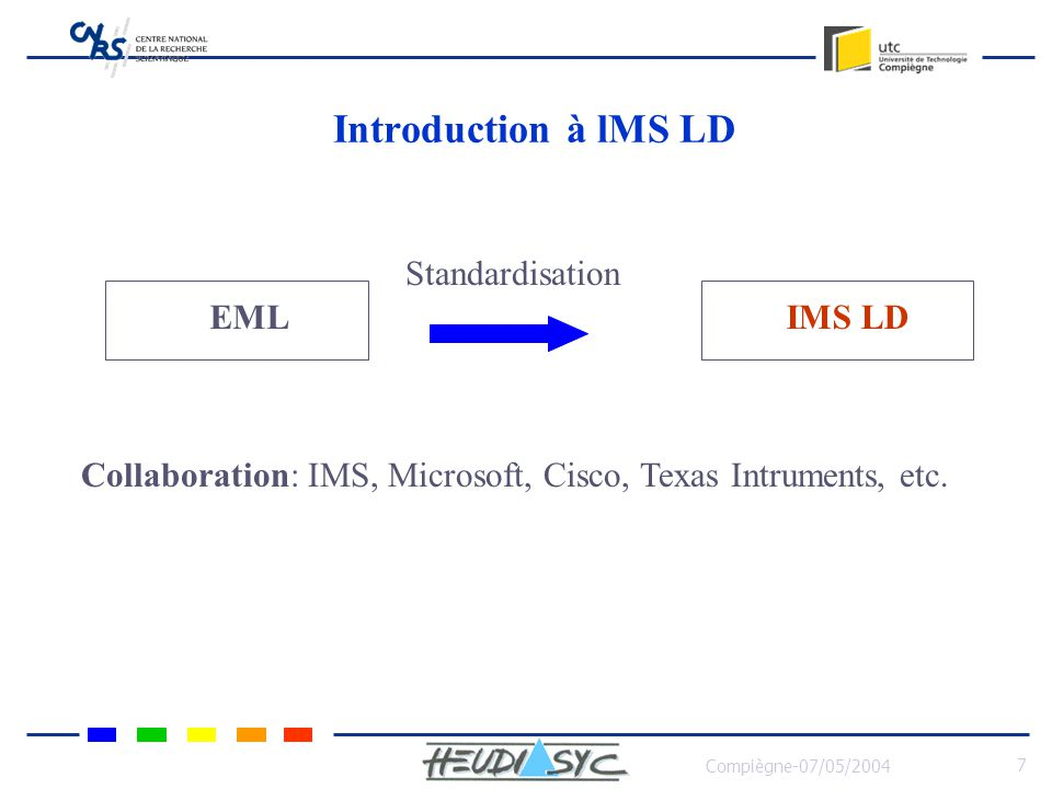 Introduction à lMS LD Standardisation EML IMS LD