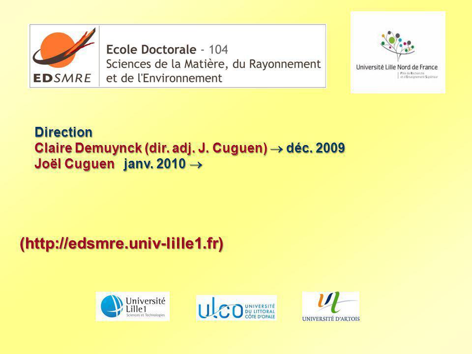 (http://edsmre.univ-lille1.fr) Direction