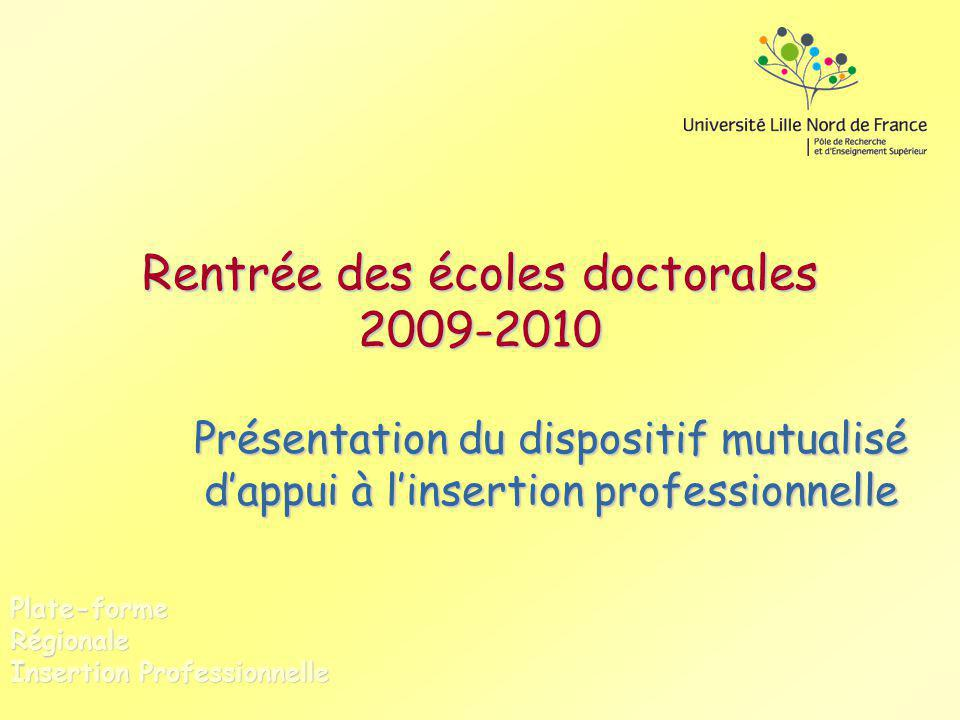 Rentrée des écoles doctorales 2009-2010