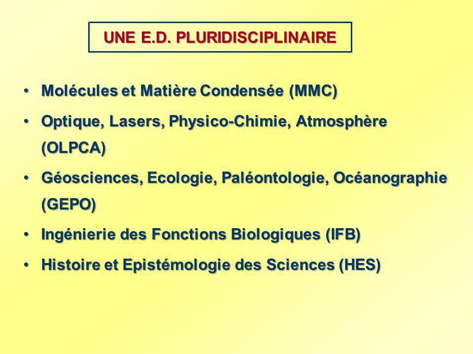 UNE E.D. PLURIDISCIPLINAIRE