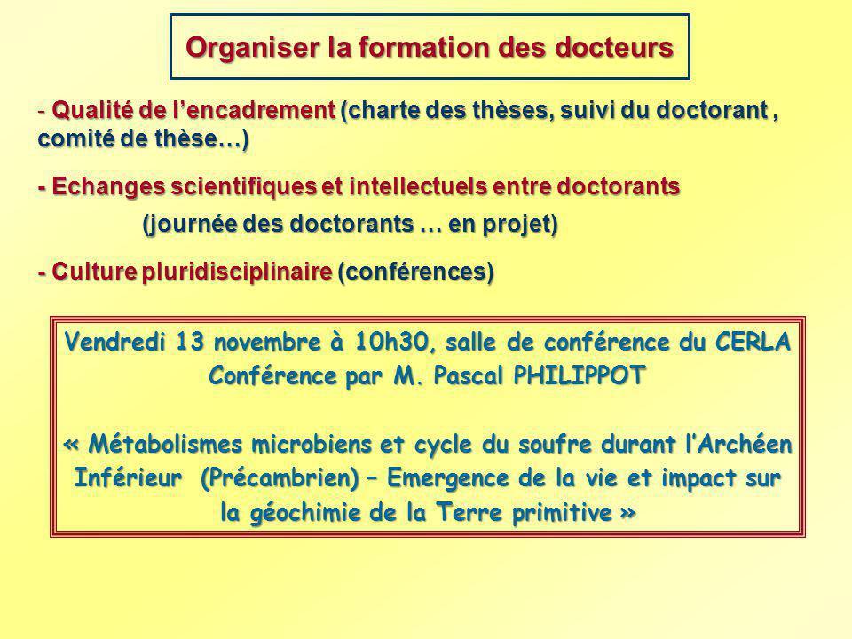 Organiser la formation des docteurs