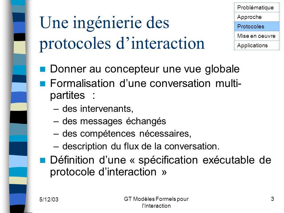 Une ingénierie des proto- coles d'interaction