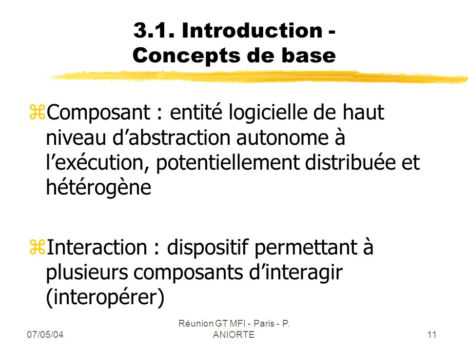 3.1. Introduction - Concepts de base