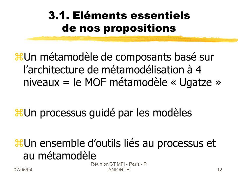 3.1. Eléments essentiels de nos propositions