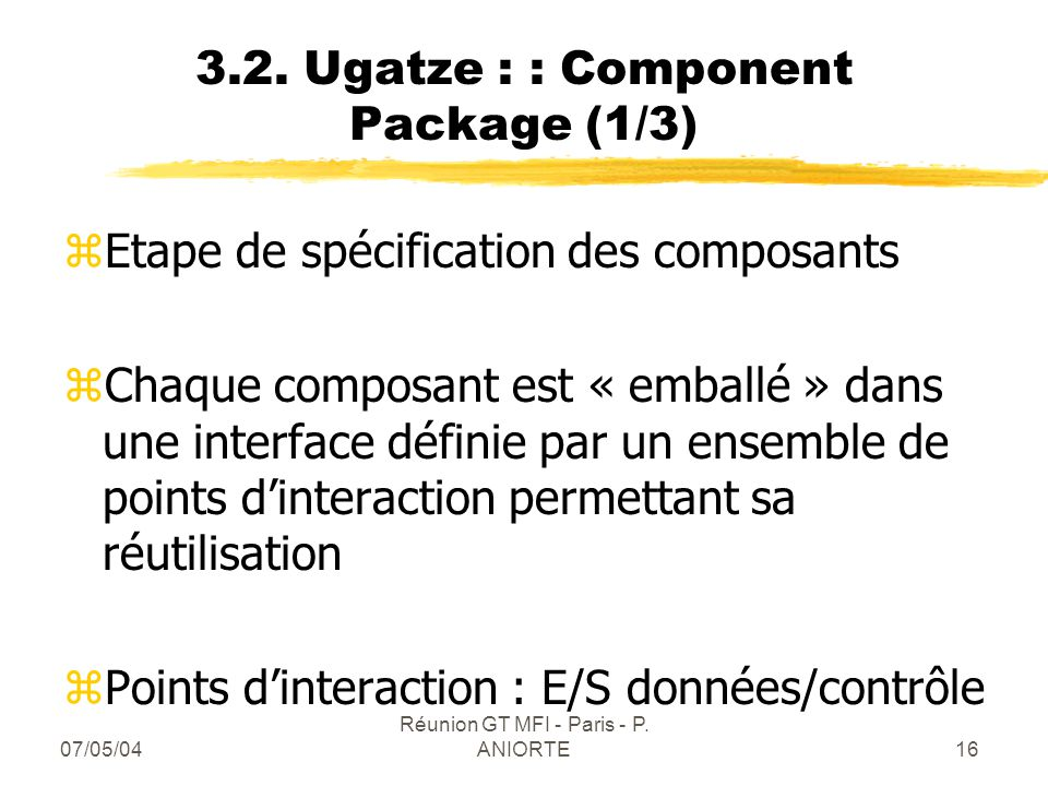 3.2. Ugatze : : Component Package (1/3)