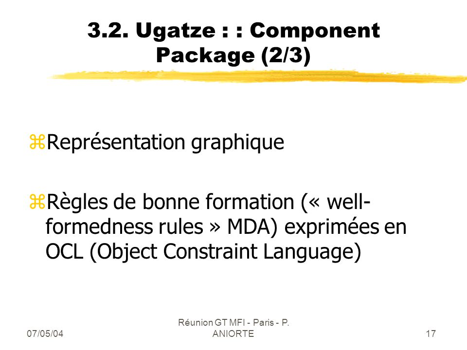 3.2. Ugatze : : Component Package (2/3)