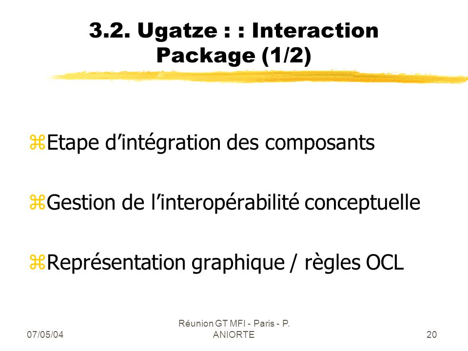 3.2. Ugatze : : Interaction Package (1/2)