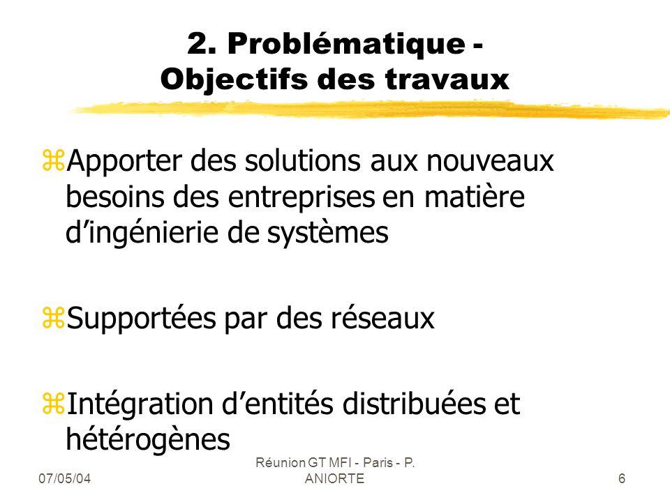 2. Problématique - Objectifs des travaux