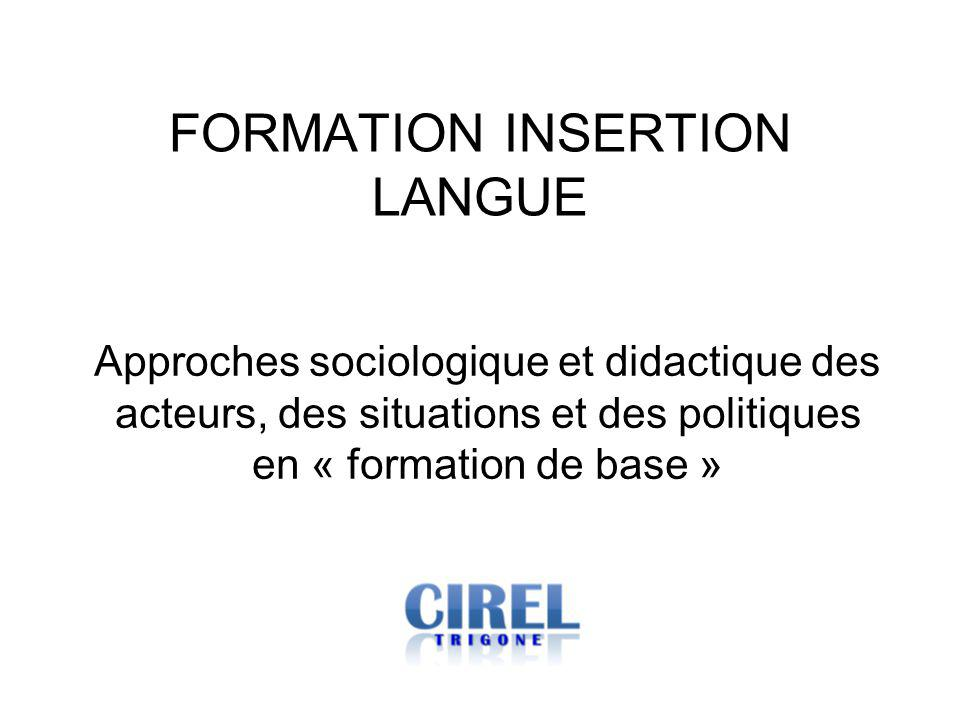 FORMATION INSERTION LANGUE