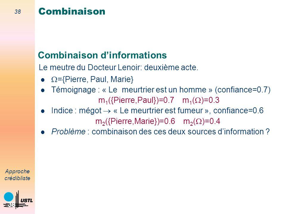 Combinaison d'informations