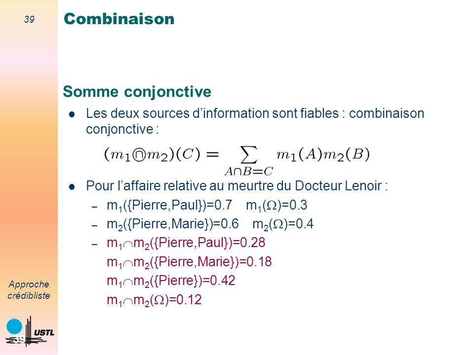 Combinaison Somme conjonctive