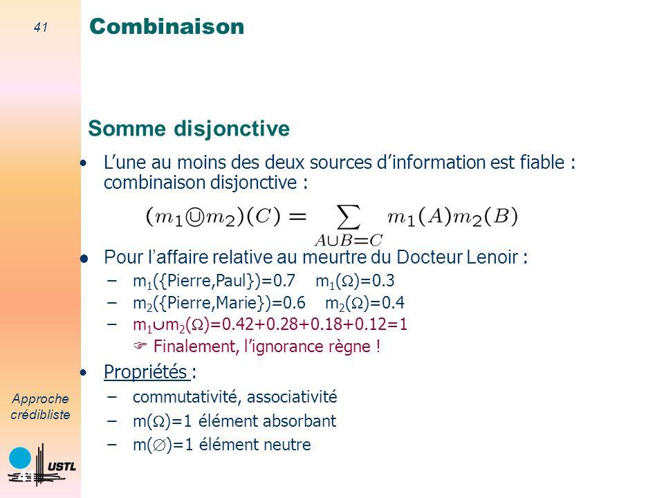 Combinaison Somme disjonctive