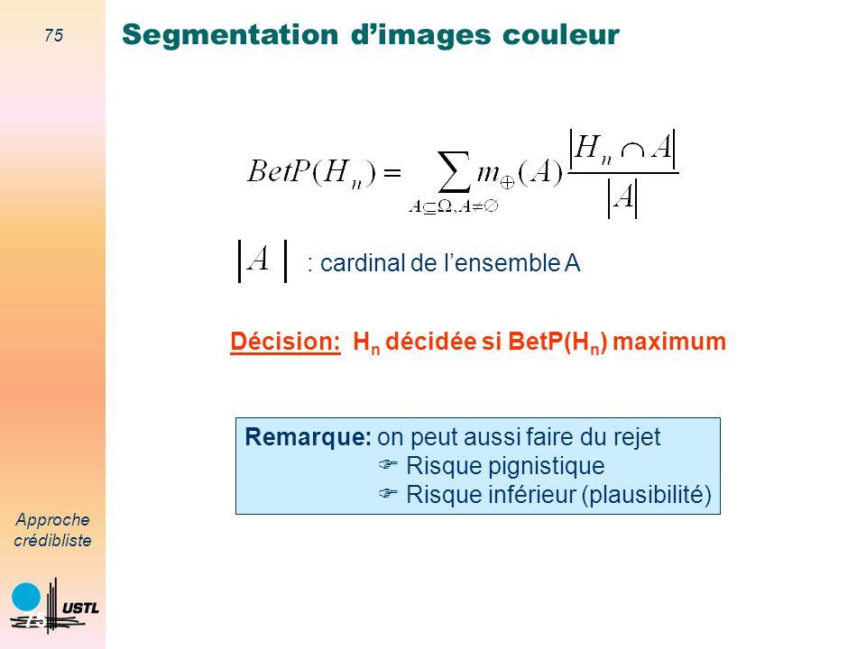 Segmentation d'images couleur