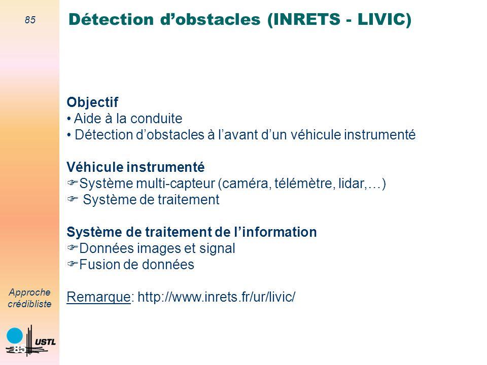 Détection d'obstacles (INRETS - LIVIC)