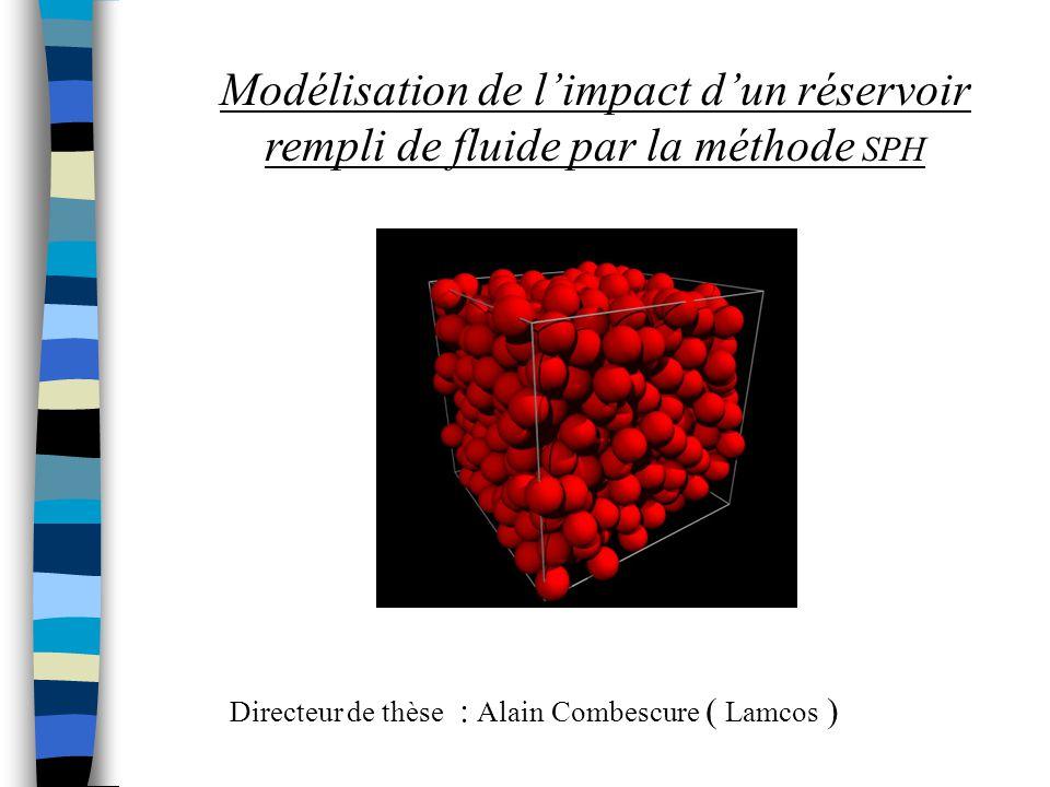 Modélisation de l'impact d'un réservoir rempli de fluide par la méthode SPH