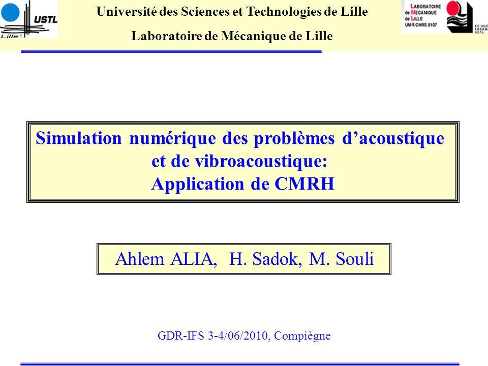 Simulation numérique des problèmes d'acoustique et de vibroacoustique: