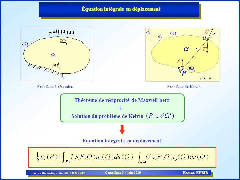 Équation intégrale en déplacement