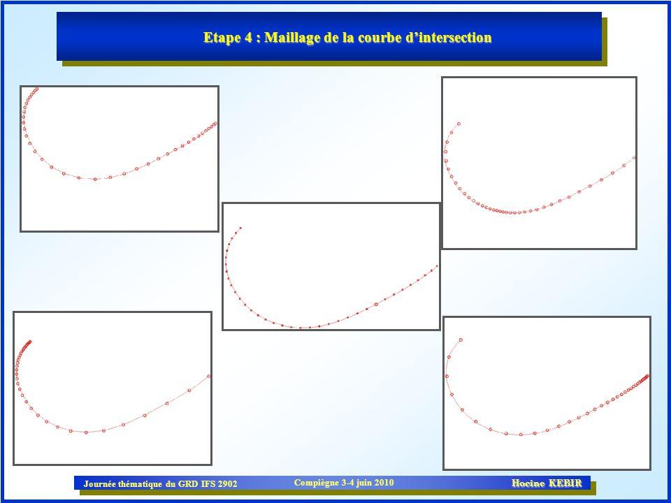 Etape 4 : Maillage de la courbe d'intersection