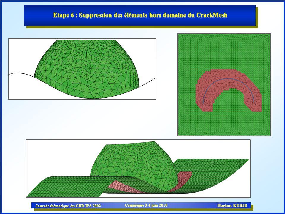 Etape 6 : Suppression des éléments hors domaine du CrackMesh