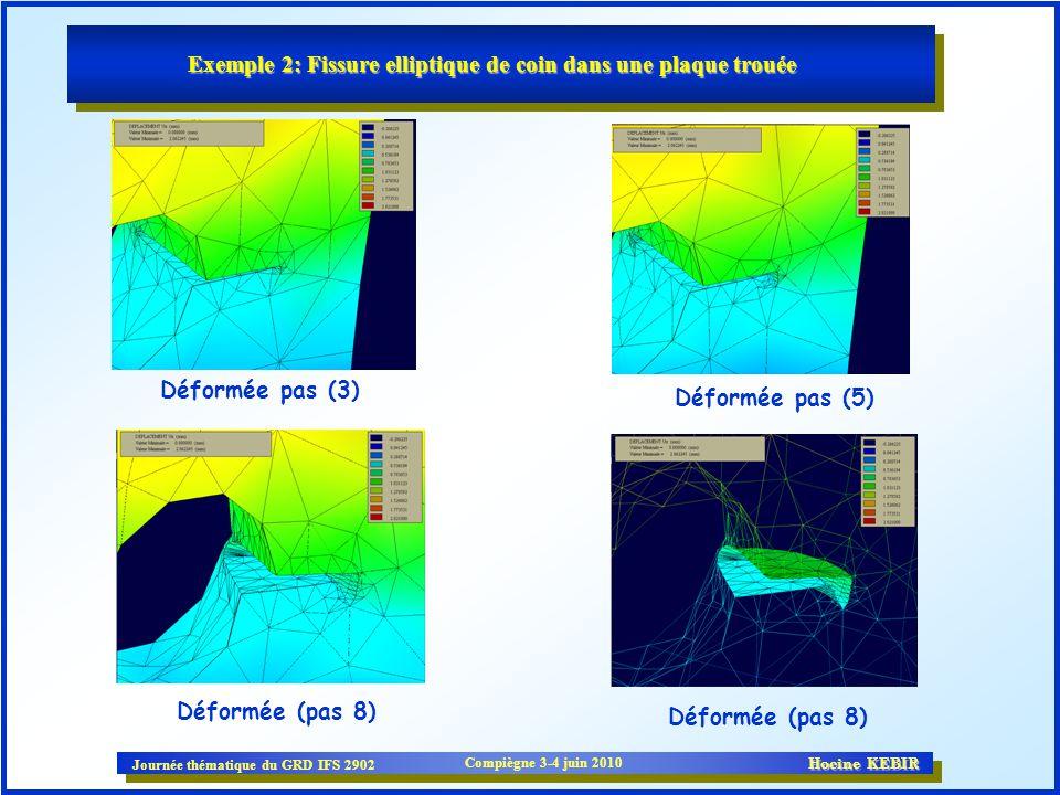Exemple 2: Fissure elliptique de coin dans une plaque trouée