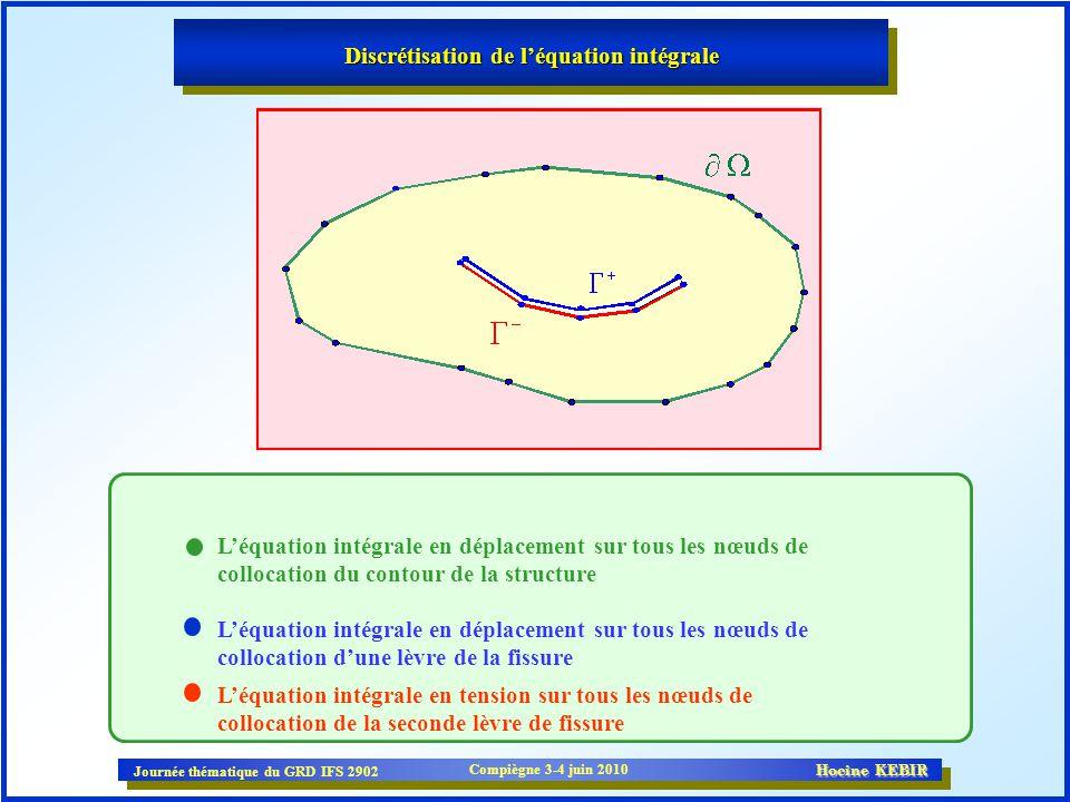 Discrétisation de l'équation intégrale