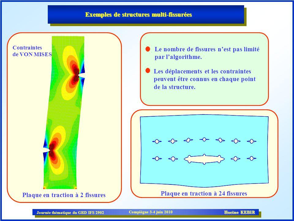 Exemples de structures multi-fissurées