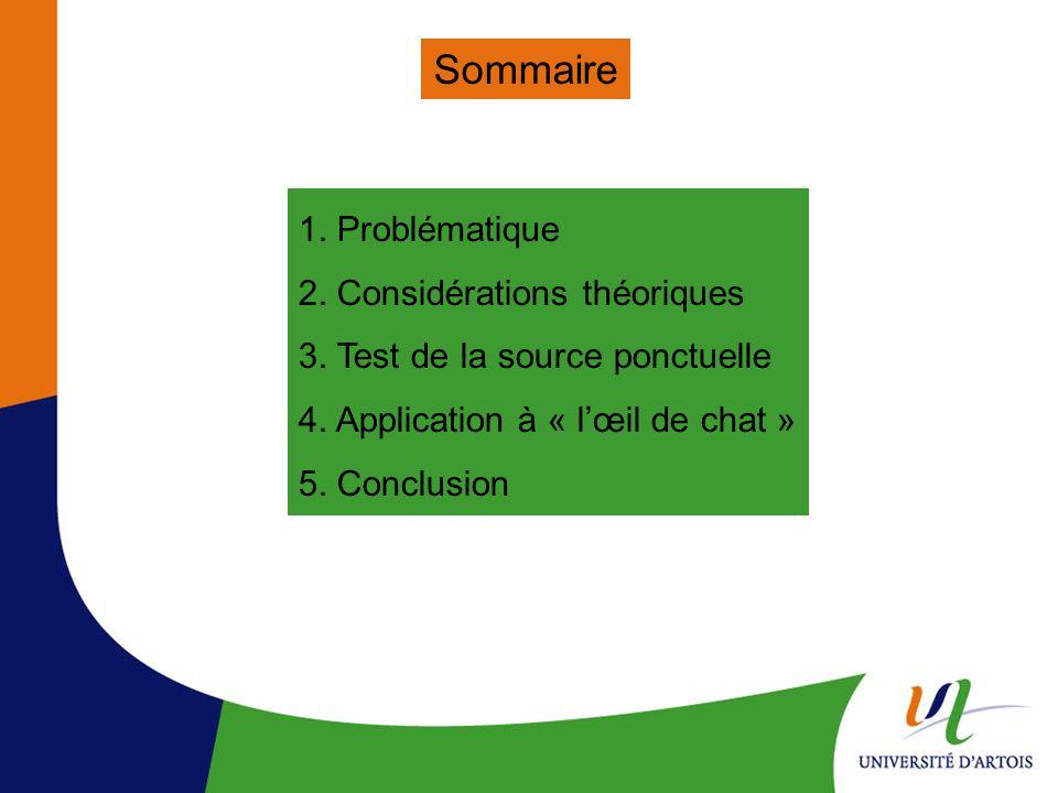 Sommaire 1. Problématique 2. Considérations théoriques