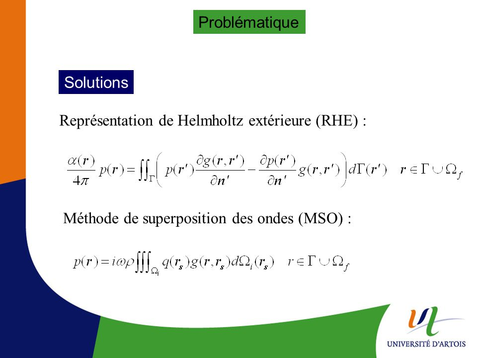 Problématique Solutions.