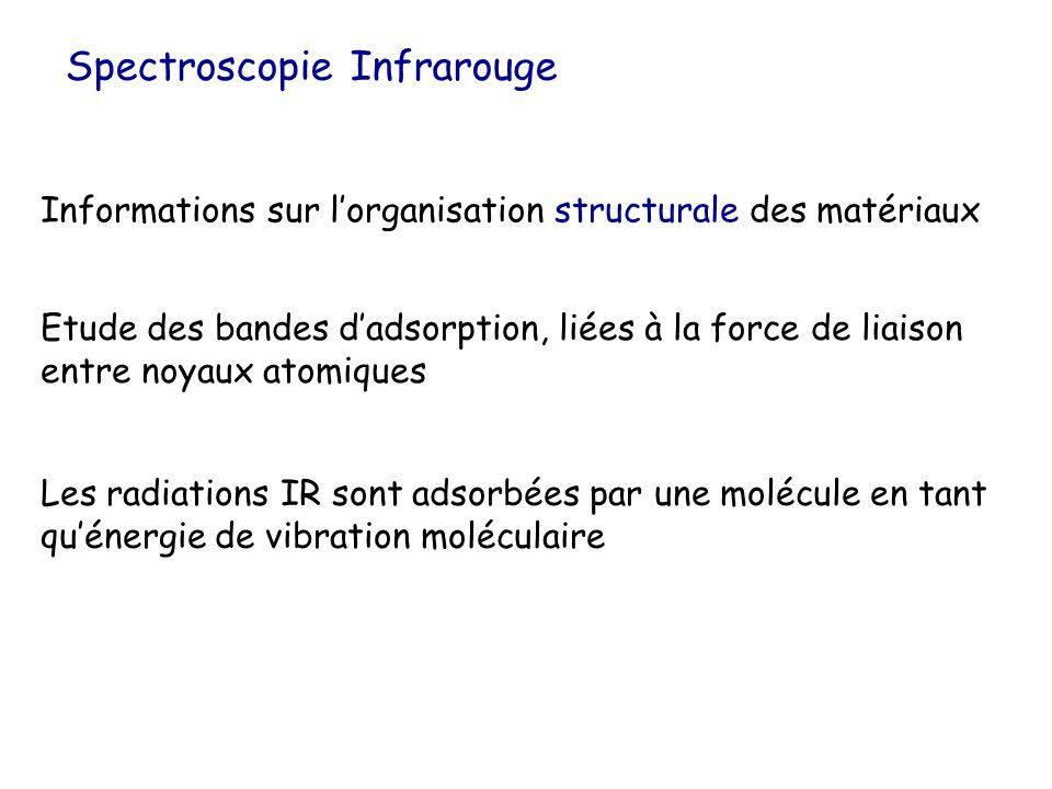 Spectroscopie Infrarouge