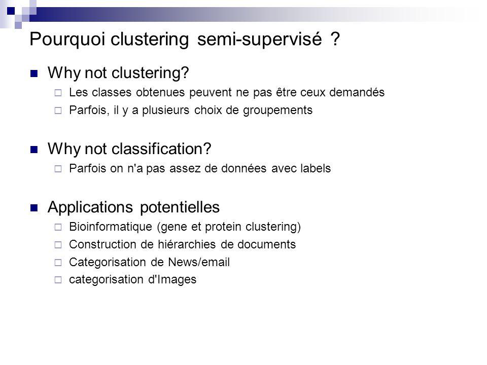 Pourquoi clustering semi-supervisé
