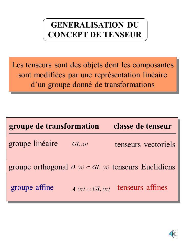 GENERALISATION DU CONCEPT DE TENSEUR