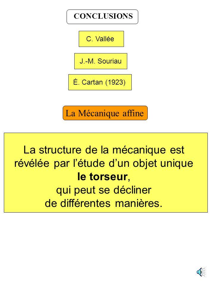 La structure de la mécanique est révélée par l'étude d'un objet unique