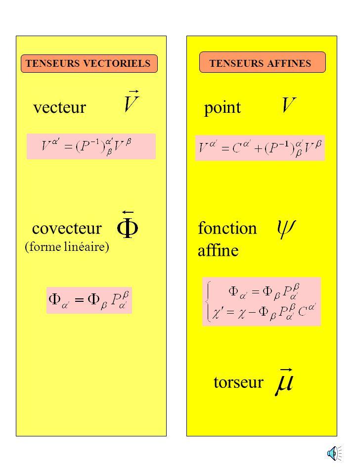 point fonction affine vecteur covecteur torseur (forme linéaire)