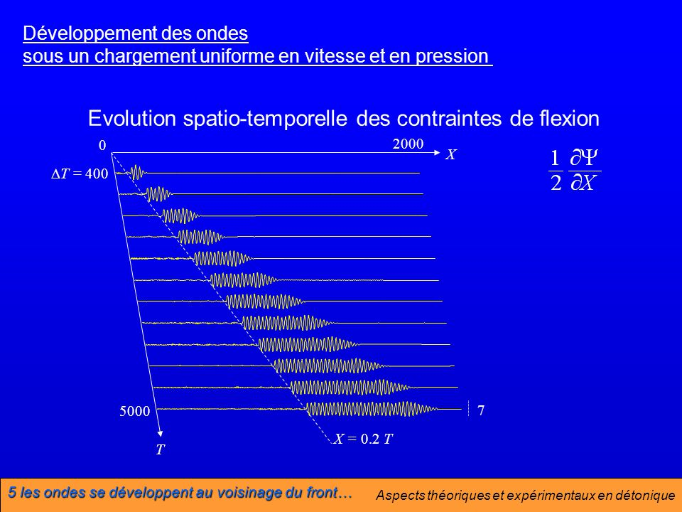 Evolution spatio-temporelle des contraintes de flexion