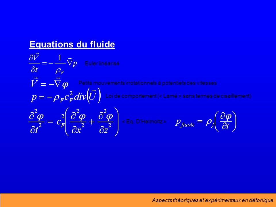 Equations du fluide Euler linéarisé