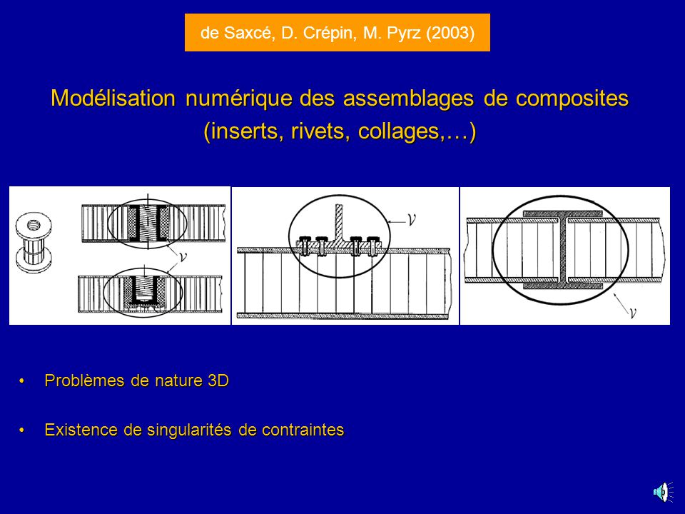 Modélisation numérique des assemblages de composites