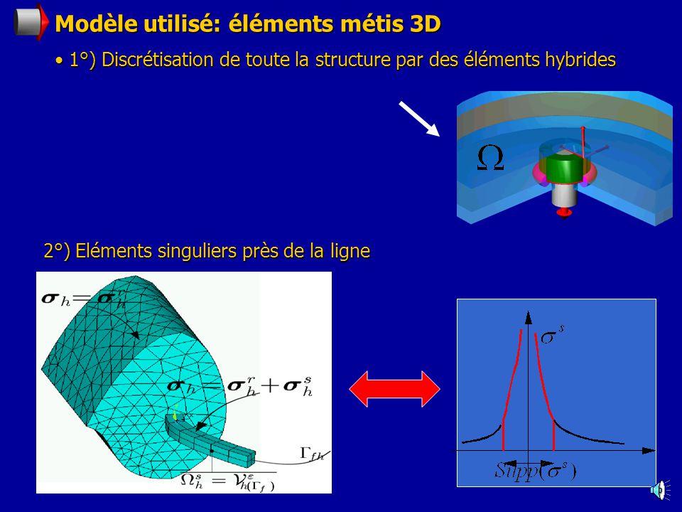 Modèle utilisé: éléments métis 3D