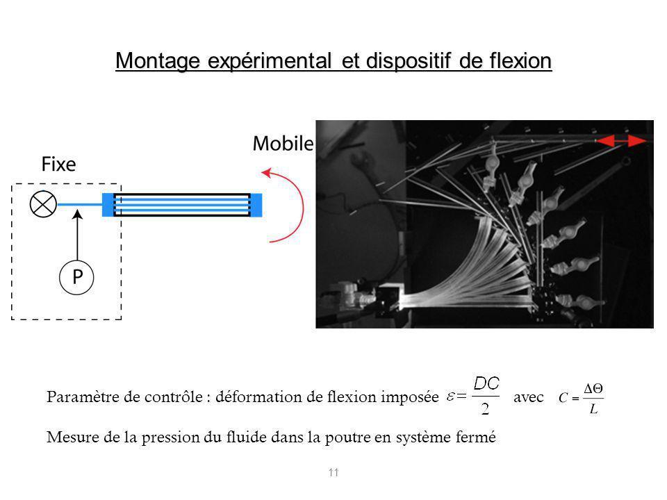 Montage expérimental et dispositif de flexion
