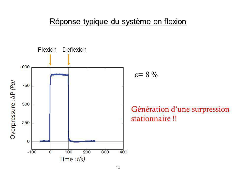 Réponse typique du système en flexion